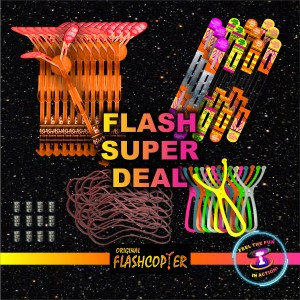 Flash Super Deal Twelve ORIGINAL COPTERS , Twelve Maxi Sling Shots With 8 Inch Rubberband, 12 extra wings,  12 Battery packs and 12 extra 8 inch rubber bands $50