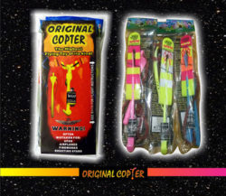 Mega Pack Thirty ORIGINAL COPTERS with Exclusive VIPER  LAUNCHER Red Rubber Band $45.00