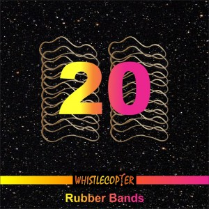 Twenty Pack PREMIUM RED 7 INCH Rubber Bands