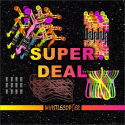 Super Deal Twelve ORIGINAL COPTERS , Twelve Maxi Sling Shots With Eight Inch Rubber band Twelve extra wings Twelve Battery packs and Twelve extra Eight inch rubber bands