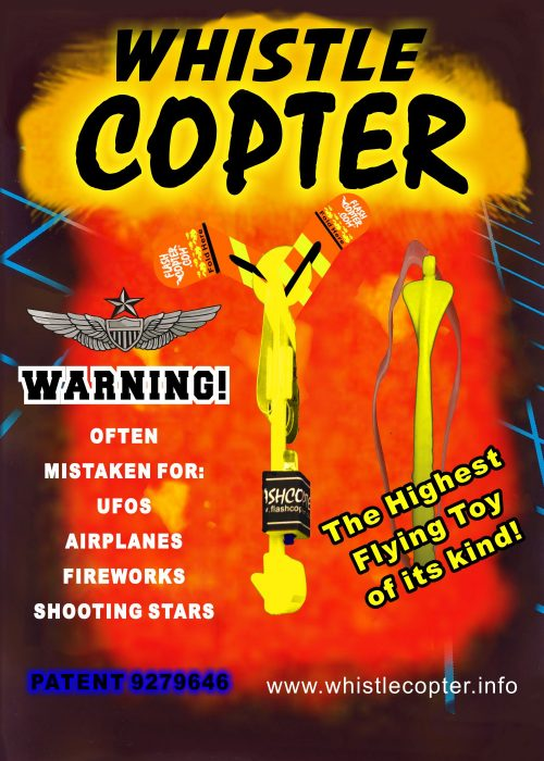 whistle copter blister pack