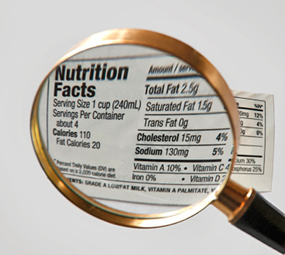 check nutrition facts
