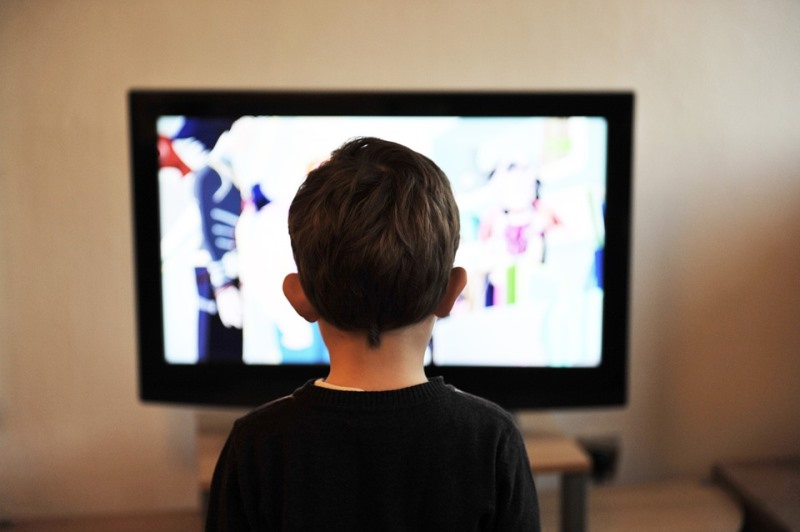 child on TV