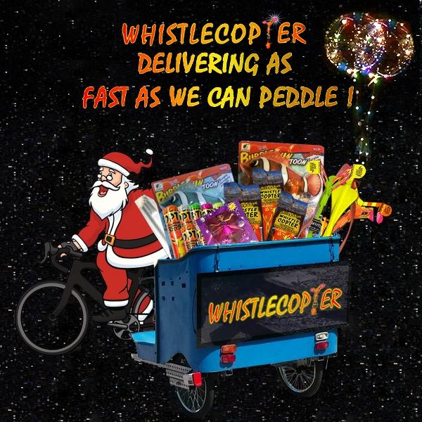 Whistlecopter Pedi-cap Santa