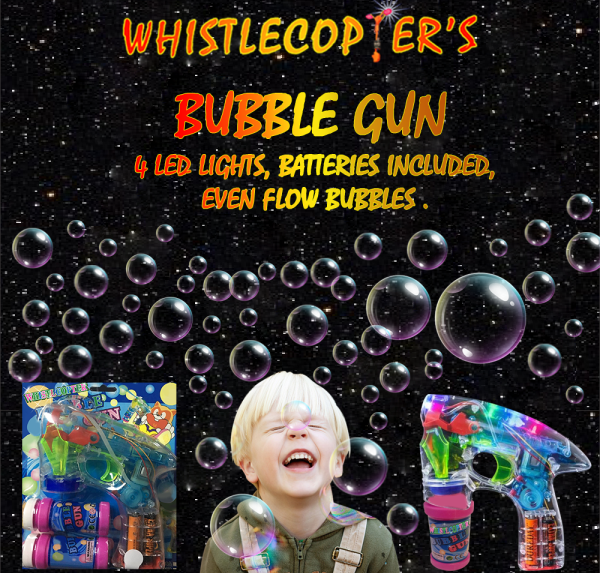Whistlecopter LED Bubble Gun