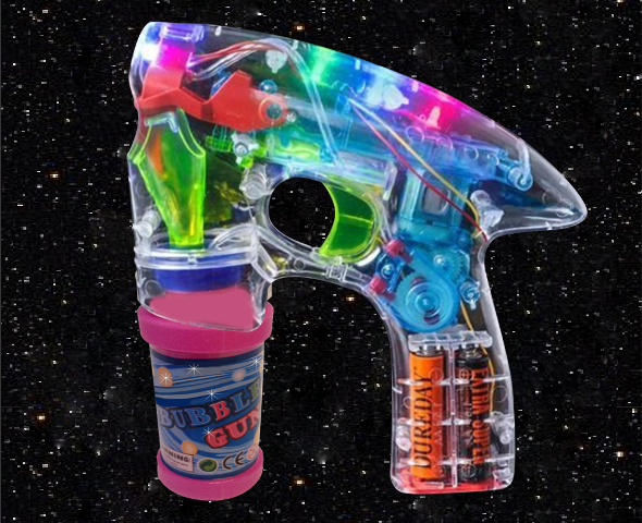 Whistlecopter Lazer Bubble Blaster