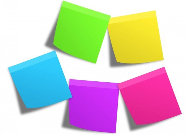 Organized Post Its