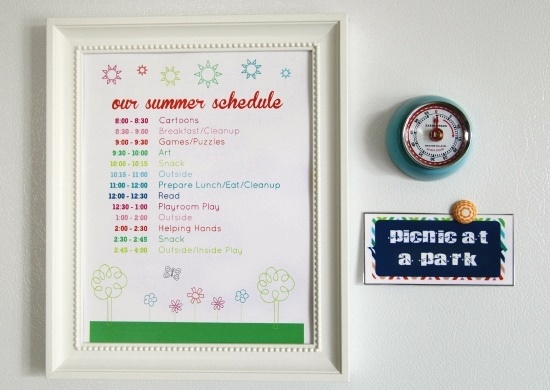 Activities Schedule