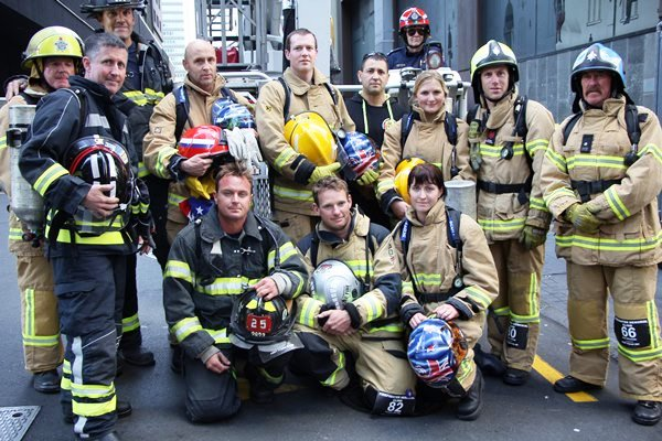 A Team of Fire Fighters