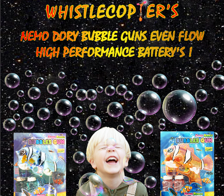 The Nemo Dory Bubble Guns from Whistlecopter