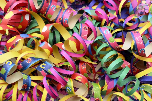 Swirly & Twirly Colorful Paper Decor