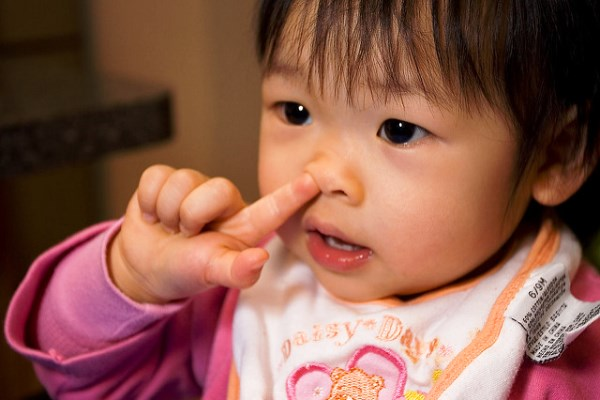 Child Picking their Nose